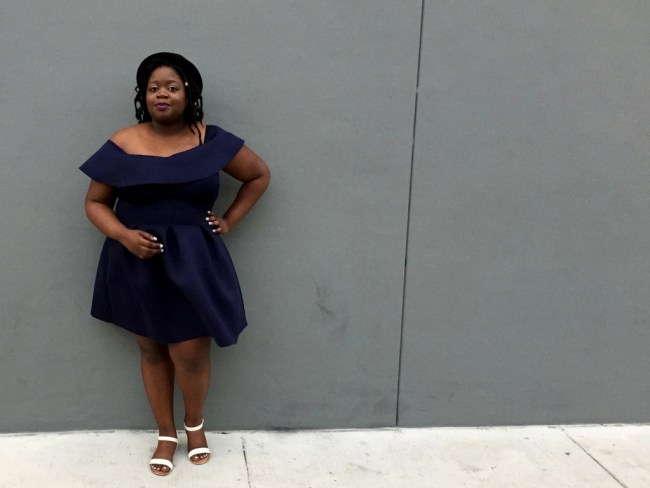 Charlotte Russe off the shoulder Scuba NaysVoice