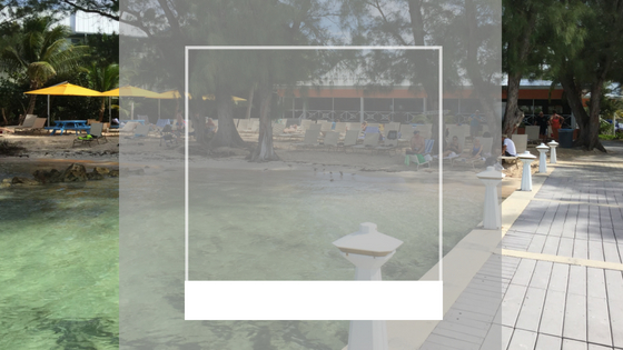 iconic view of cayman islands beach resort