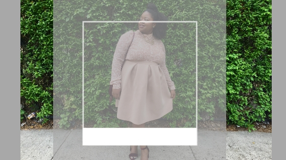 plus size black girl wearing summer pink outfit