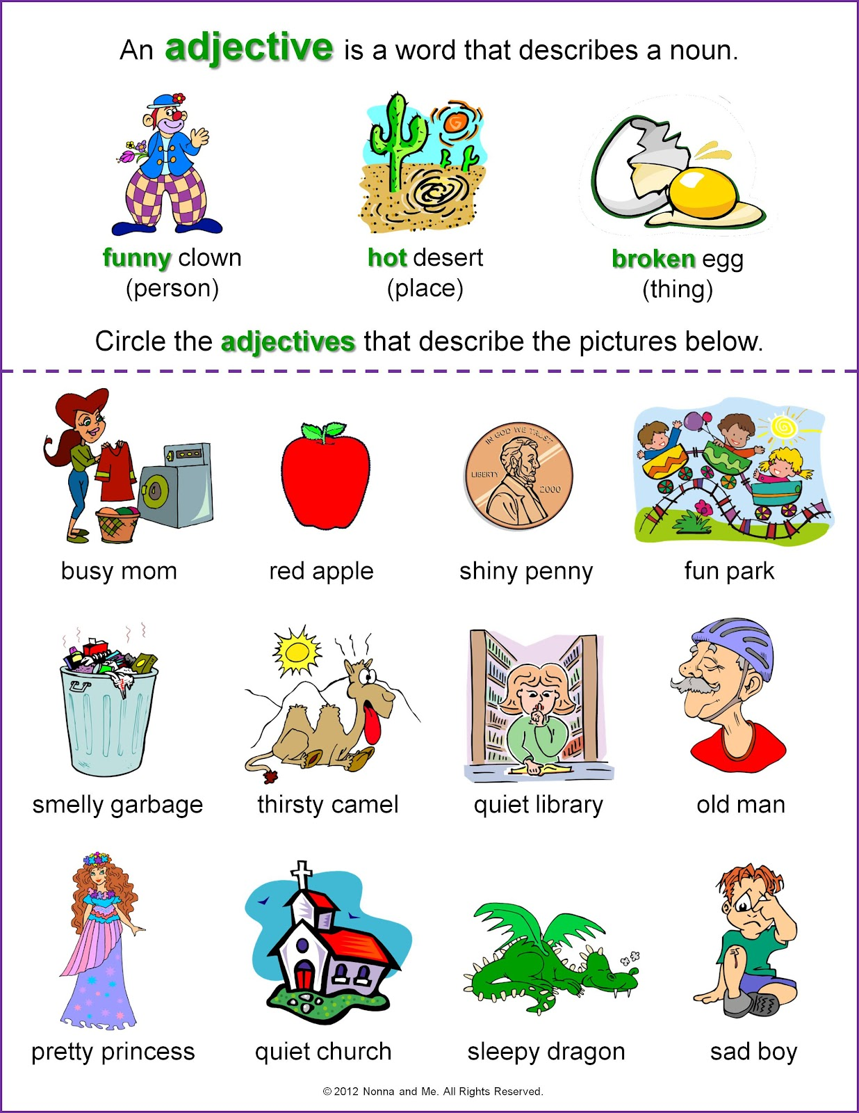 English Worksheets For Grade 2 H