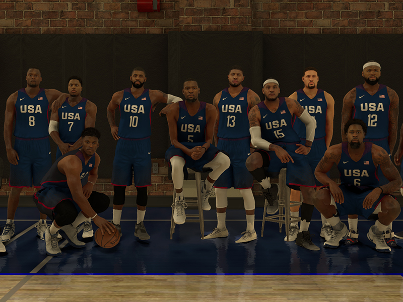 Il primo screenshot di NBA2K17 con il Team USA