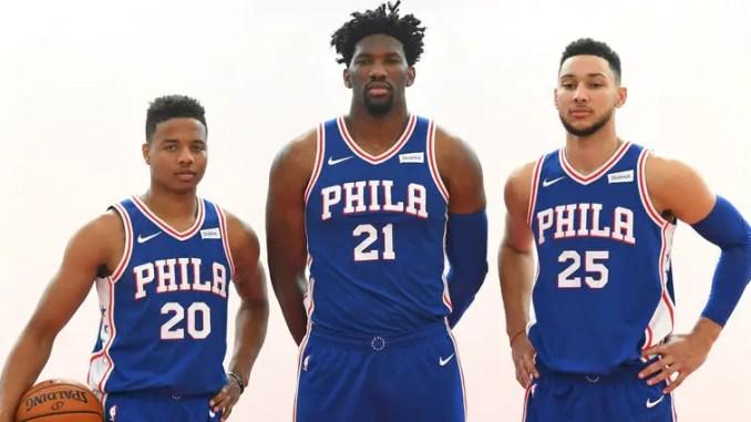 Joel Embiid, Markelle Fultz, Ben Simmons, Philadelphia 76ers, NBA
