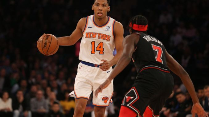 purchase cheap 4d813 801c6 New York Knicks: Allonzo Trier Looks Like Quite the Steal
