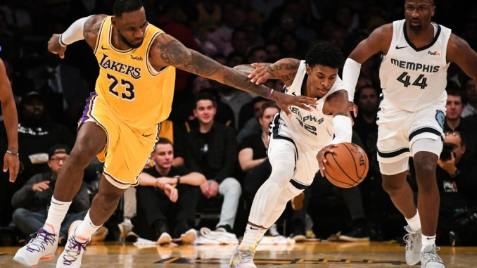 LeBron James, Ja Morant, Grizzlies, Lakers