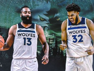 James Harden, Karl-Anthony Towns, Timberwolves, Rockets