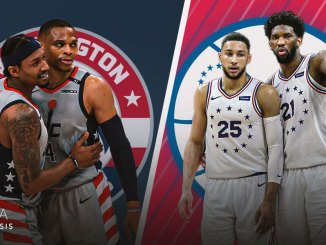 Philadelphia 76ers, Joel Embiid, Ben Simmons, Washington Wizards, Bradley Beal, Russell Westbrook