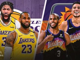 Los Angeles Lakers, Phoenix Suns, LeBron James, Anthony Davis, Chris Paul, Devin Booker