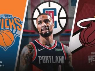 Damian Lillard, Trail Blazers, Knicks, Heat, Clippers