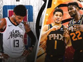 Phoenix Suns, LA Clippers, Paul George, Devin Booker, Deandre Ayton, NBA Playoffs