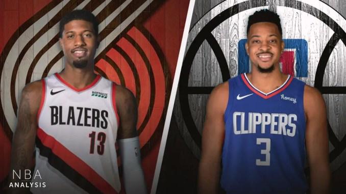 LA Clippers, Portland Trail Blazers, Paul George, CJ McCollum