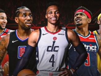 Russell Westbrook, Washington Wizards, Kawhi Leonard, Los Angeles Clippers, Bradley Beal, Indiana Pacers, Myles Turner, Ben Simmons, Philadelphia 76ers