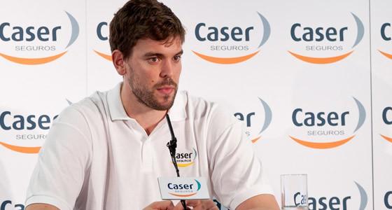 Marc Gasol en rueda de prensa en Madrid