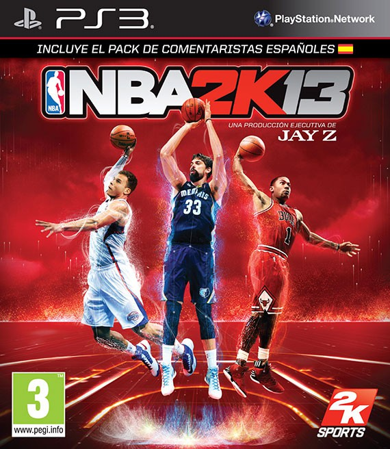 portada-NBA-2K13-Marc-Gasol-Blake-Griffin-Derrick-Rose