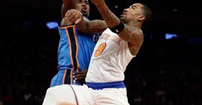 J.R. Smith no puede con los Thunder en New York