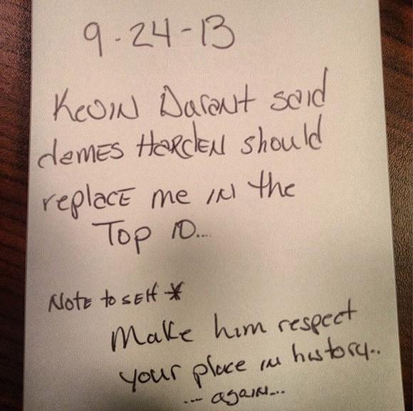 mensaje Wade a Durant