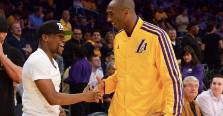 Floyd Mayweather reta a Kobe Bryant por un millón de dólares