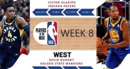 Victor Oladipo y Kevin Durant, Jugadores de la Semana