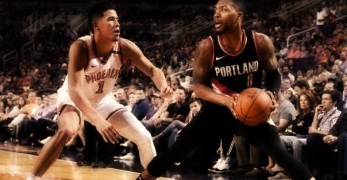 Lillard y Booker sostienen un duelo de artilleros con triunfo para Portland