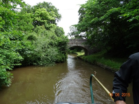 Cruising up the Llangollen.