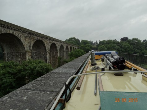 Across the Chirk aqueduct