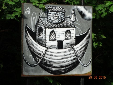 Canal art along the way