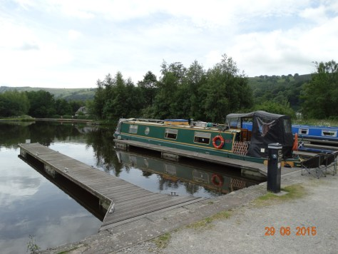 Breakaway moored in the wharf. When we arrived it was very quiet and hardly any other boats.
