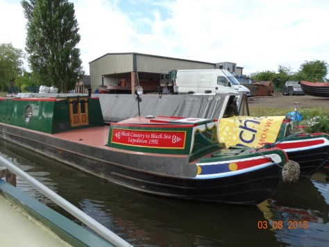 Vintage boats at Brewood wharf