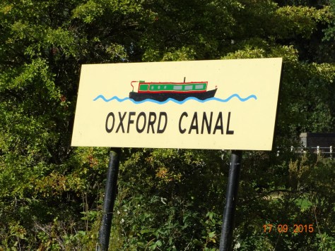 To prove we are on the Oxford canal