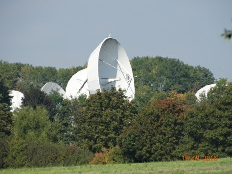 The satellite dishes are rather large this way!