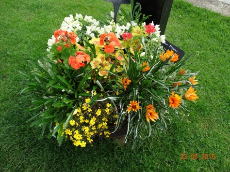One of many flower tubs around the Thrupp moorings