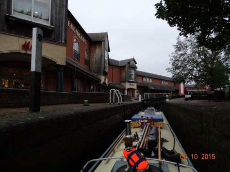 Through the lock and into Castle Quay