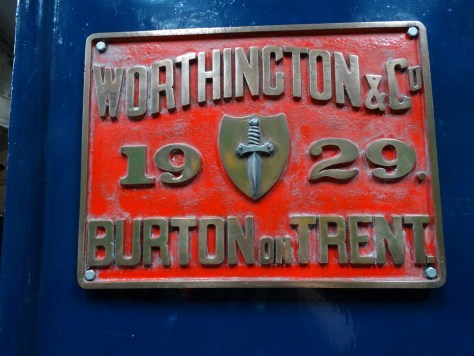 a badge on one of the engines