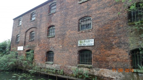 Many old wharf buildings and abandoned canal arms along the journey