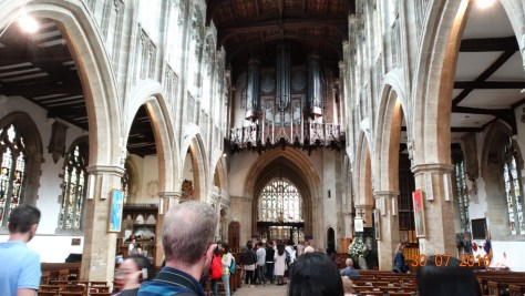 Inside the church where Shakespeare is buried