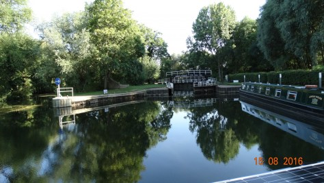 Looking toward the lock