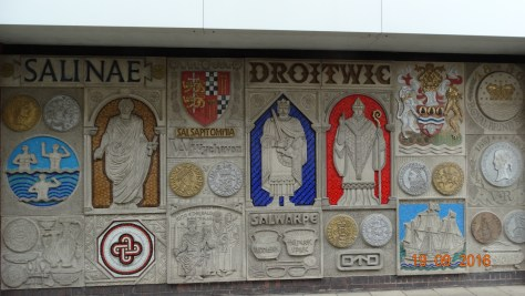 another mosaic depicting the history of the town
