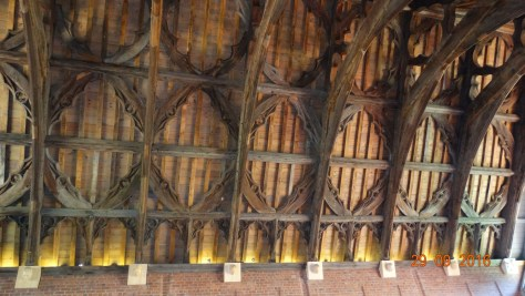 the medieval Guesten hall roof saved from Worcester cathedral