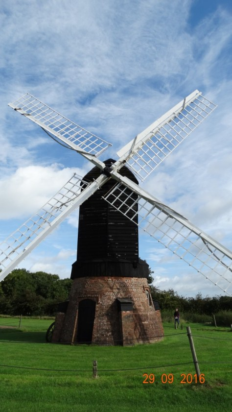 a windmill typical of the area apparently. The whole top spins around so the sails can catch the wind