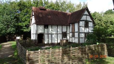 Tudor house. The oldest building in the museum at 400 years old