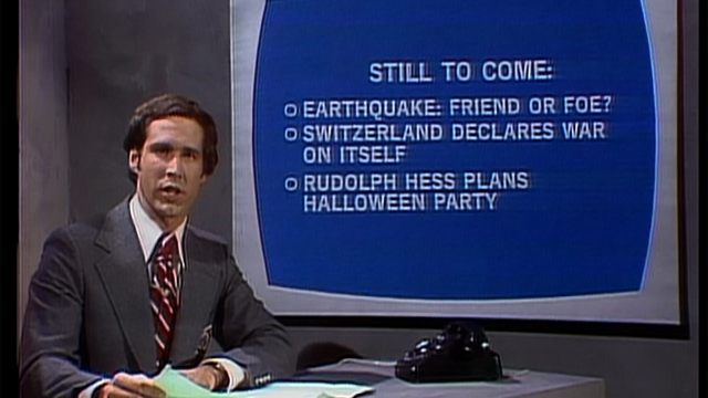 Image result for Chevy Chase doing SNL news