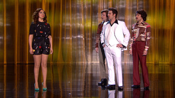 Maya competes in a dance contest against the legendary Andy Samberg.