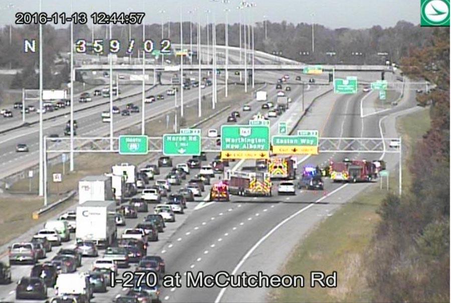 Two injured in motorcycle accident on I-270 N ramp to Easton/161