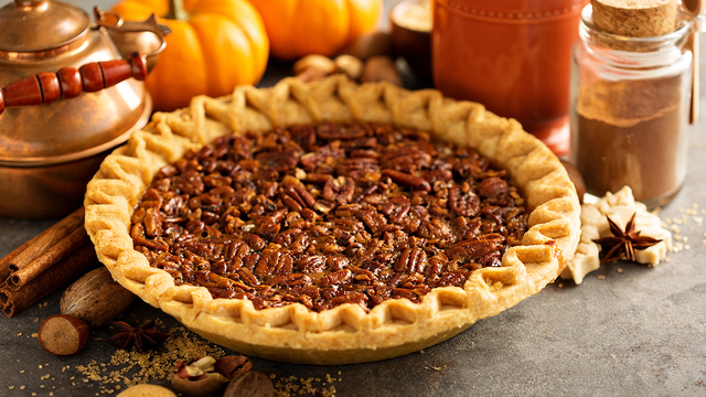 Traditional pecan pie, fall dessert concept for Thanksgiving_367567