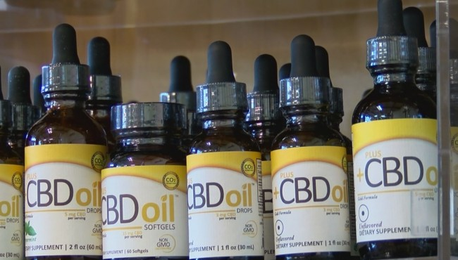 Gov. Eric Holcomb on March 21, 2018, signed a bill into law that clarified the legality of CBD oil containing up to .3 percent THC-873774424. (WISH Photo_849313