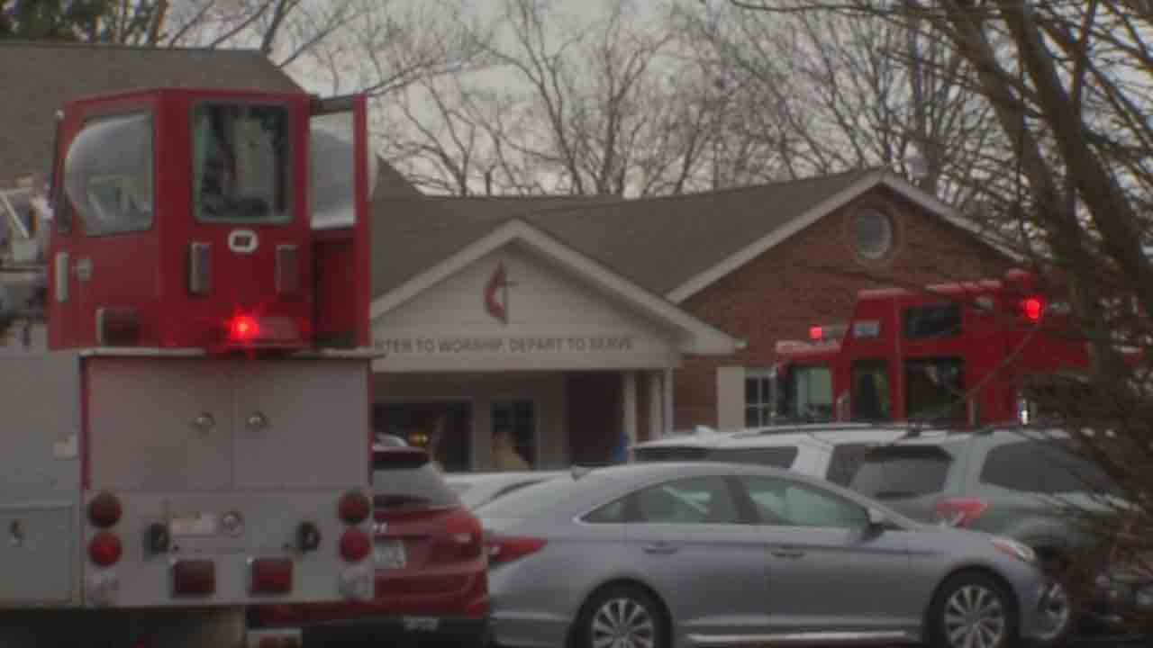 Woman suffers minor injuries after car crashes into church