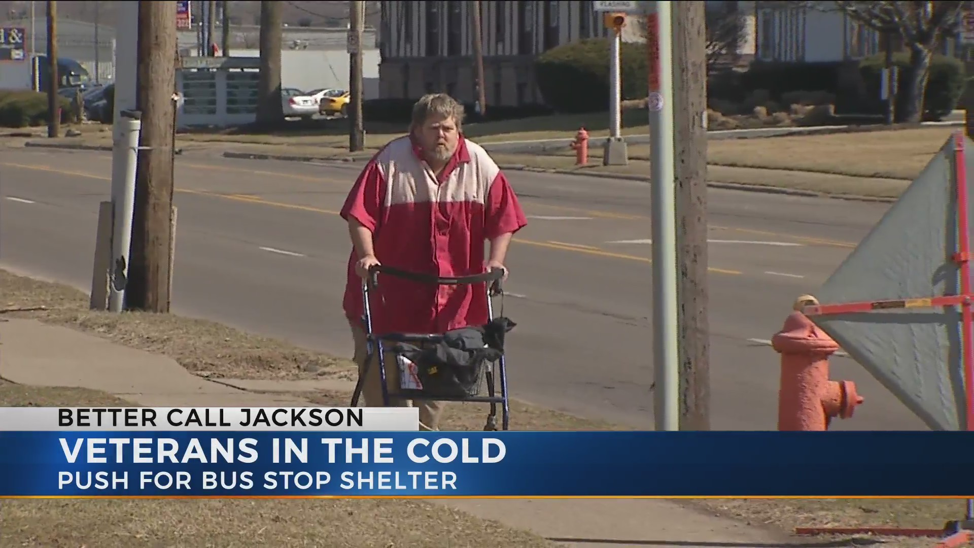 Veterans push for shelter by VA Clinic bus stop