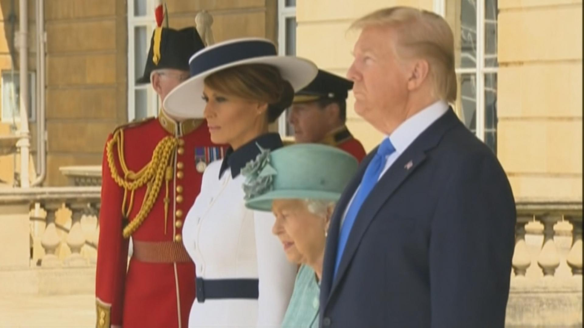 Trump met with protests during London visit
