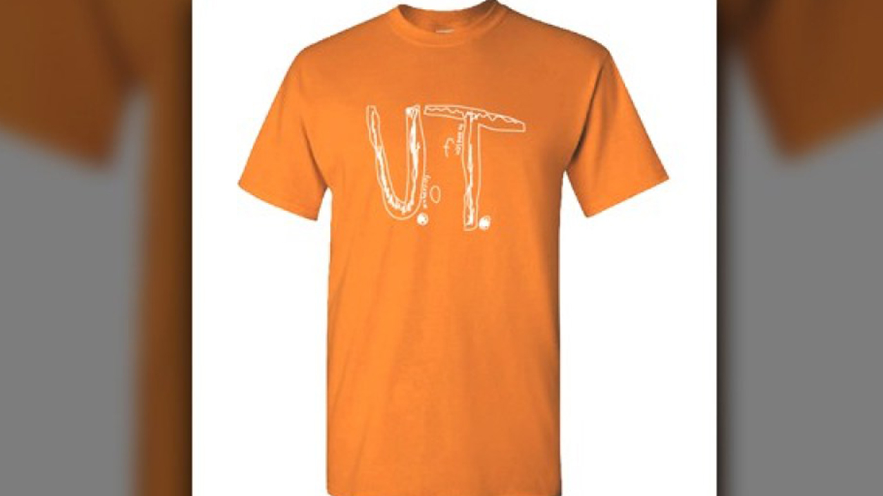 University of Tennessee selling T-shirt with Florida boy's