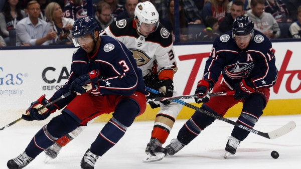 Blue Jackets down 2-1 at the end of the second period