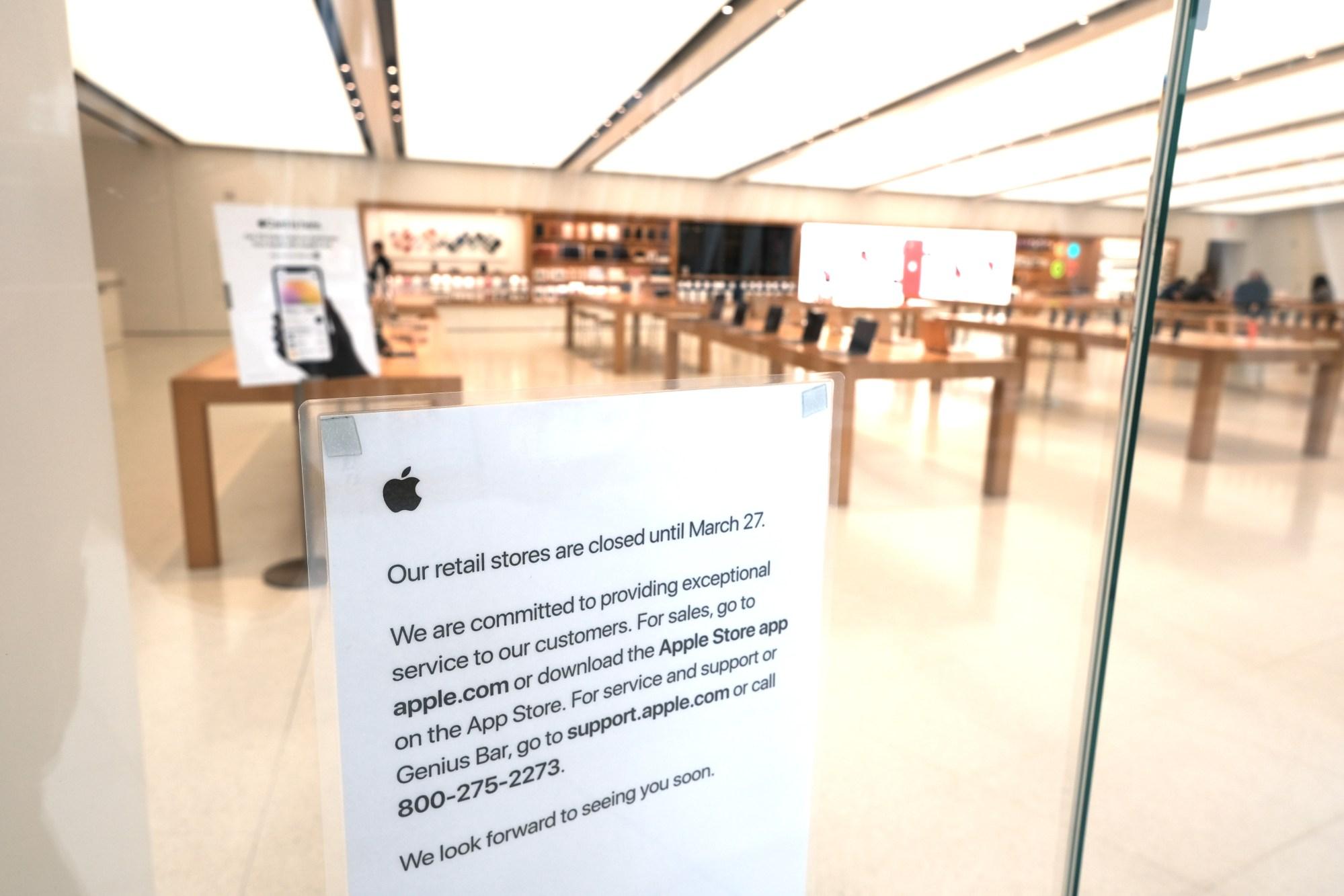 Apple store closure